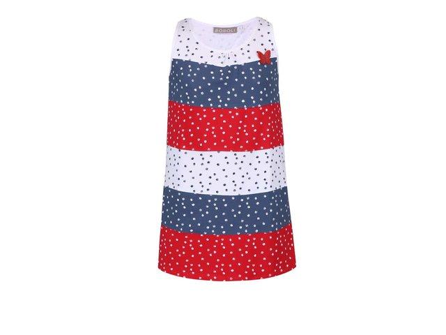 Červeno-modro-bílé šaty s pruhy Bóboli
