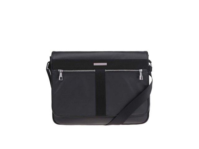 Černá pánská taška na notebook Tommy Hilfiger Darren