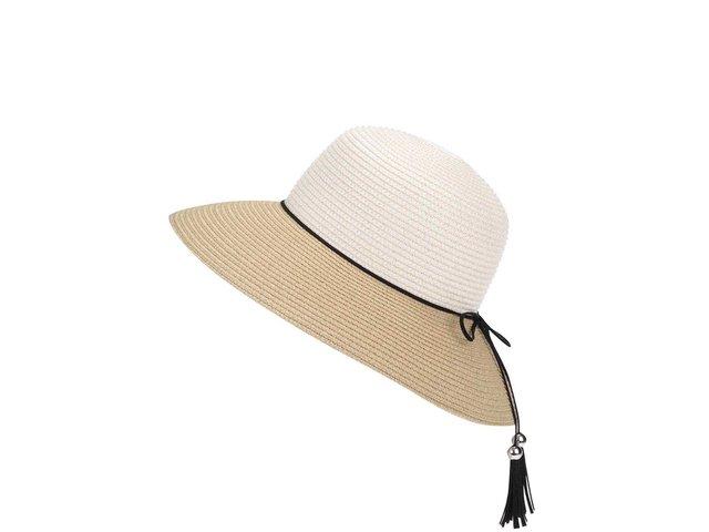 Bílo-krémový slaměný klobouk INVUU London