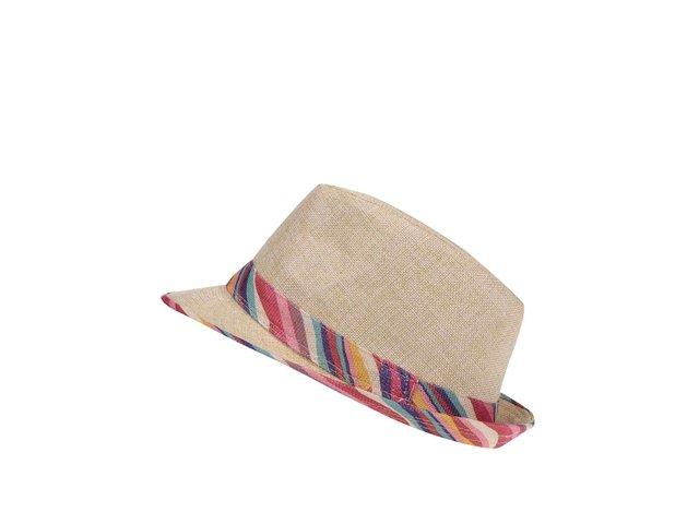 Slaměný klobouk s barevnými detaily INVUU London