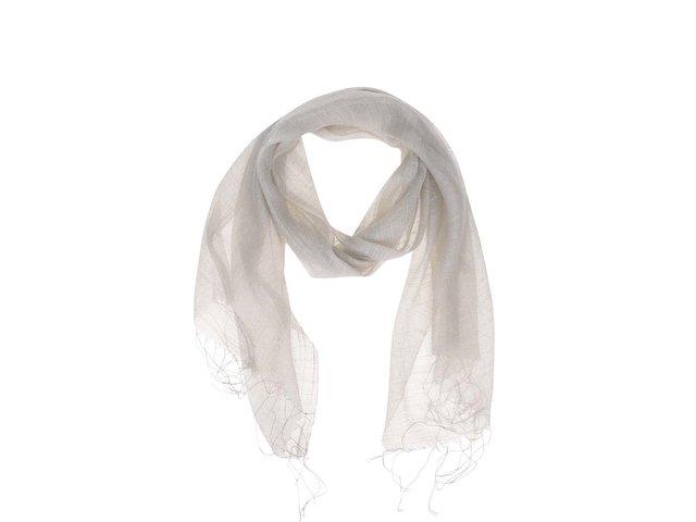 Šedobéžový hedvábný šátek INVUU London