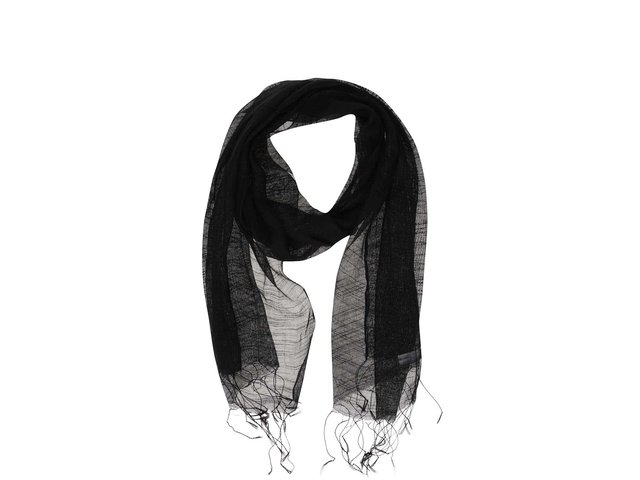 Černý hedvábný šátek INVUU London