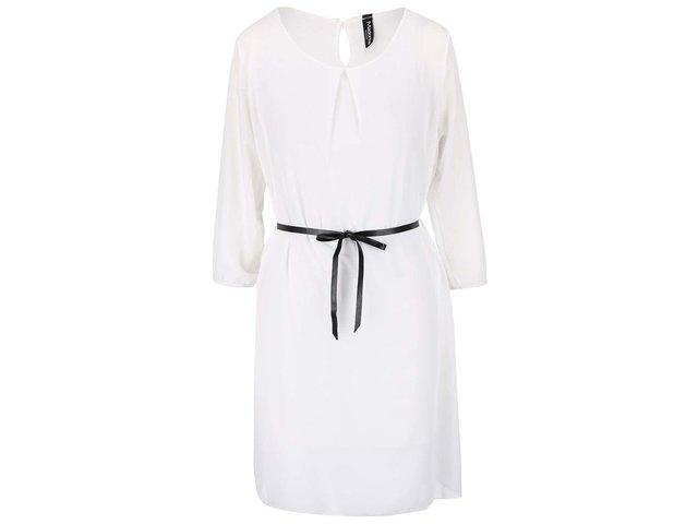 Bílé šaty s kulatým výstřihem Madonna