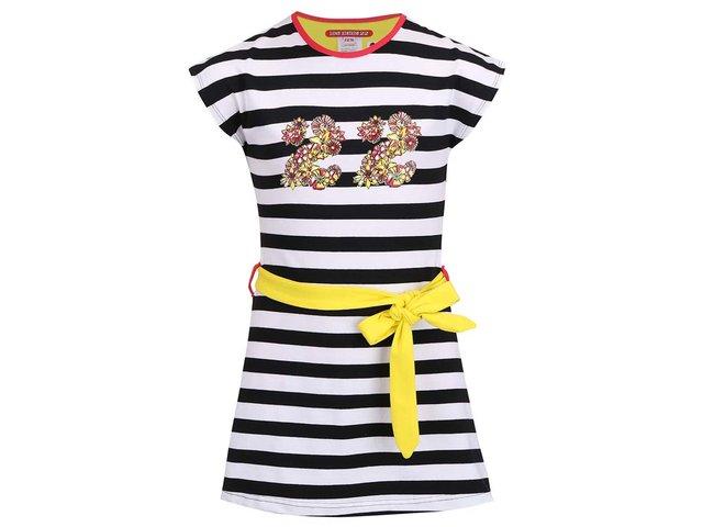 Černo-bílé pruhované dětské šaty LoveStation22 Marit