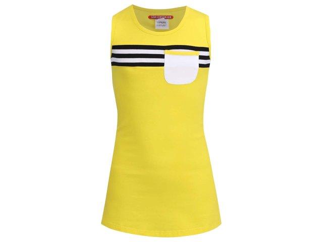 Žluté dětské šaty s kapsičkou LoveStation22 Turtle Carice