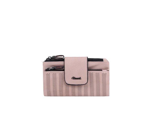 Světle růžová perforovaná peněženka Gionni Kasia