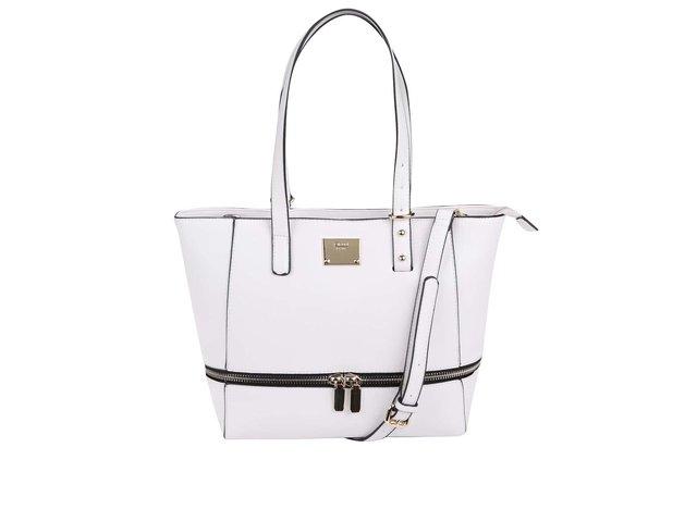 Bílá kabelka s ozdobným zipem Gionni Erin