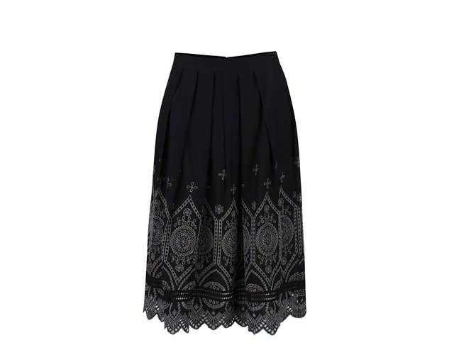 Černá sukně s krajkovaným vzorem French Connection Josephine