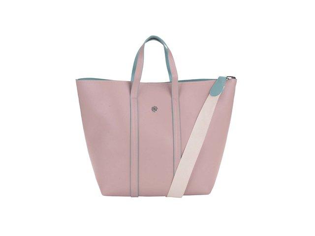 Růžový shopper Pieces Tiffany
