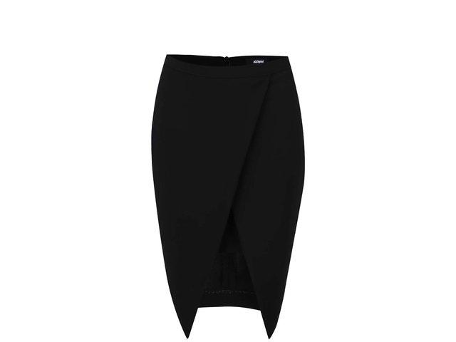 Černá sukně s rozparkem Alchymi