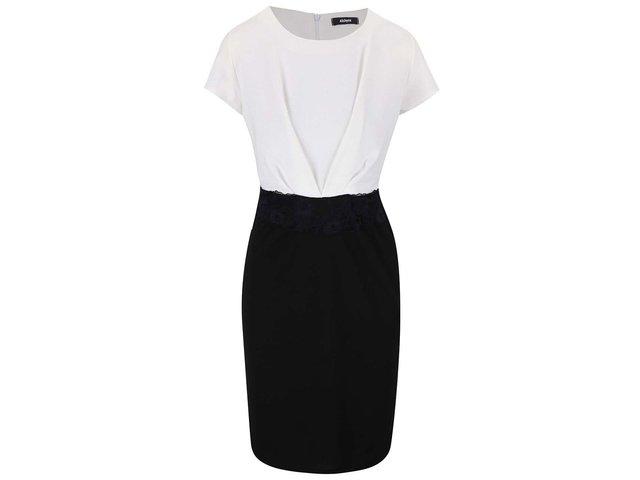Černo-bílé šaty s krátkým rukávem Alchymi