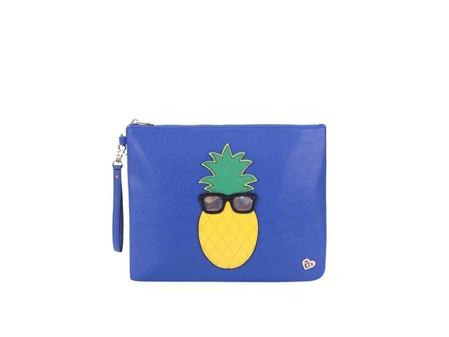 e9b065c852b2 Modrá listová kabelka s ananásom Anna Smith