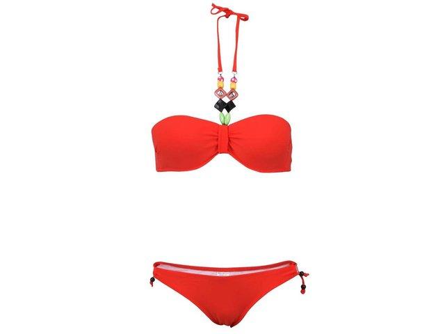 08c4d2f359 Červené plavky s farebnými korálikmi Relleciga Rellicious