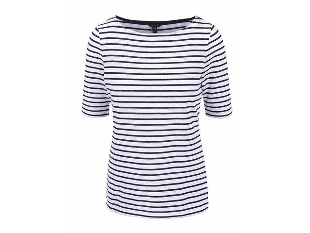d551ab570187 Modro-biele dámske pruhované tričko so vzorom Nautica