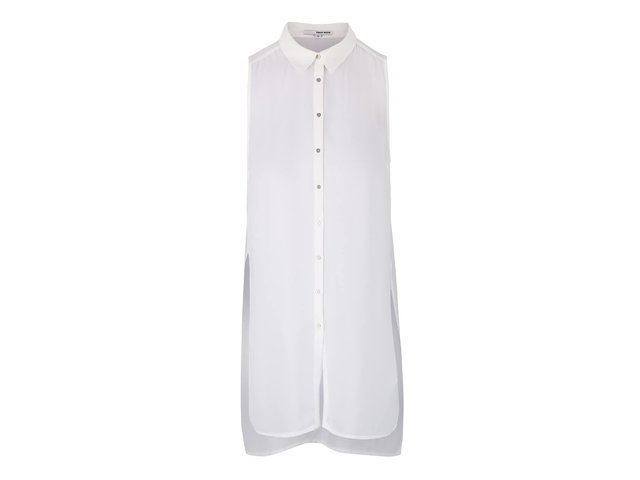 f8ed48f927c5 Krémová dlhšia košeľa bez rukávov TALLY WEiJL