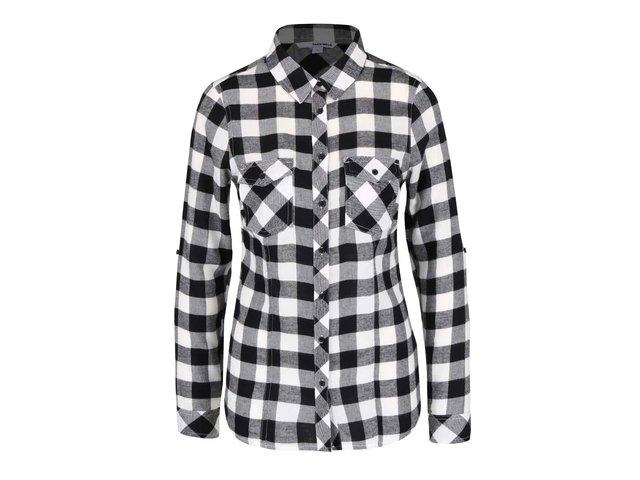 b174a1c77b3d Bielo-čierna kockovaná košeľa s vreckami TALLY WEiJL