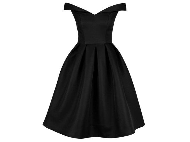 d68a220114a6 Čierne šaty so spadnutými ramenami Chi Chi London Jade