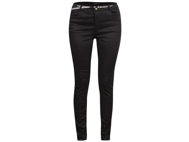 356748579494 Čierne skinny nohavice s opaskom Dorothy Perkins