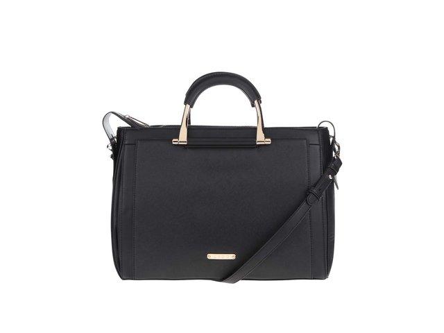 f1e4c53e5 Čierna väčšia kabelka s detailmi v zlatej farbe LYDC ?