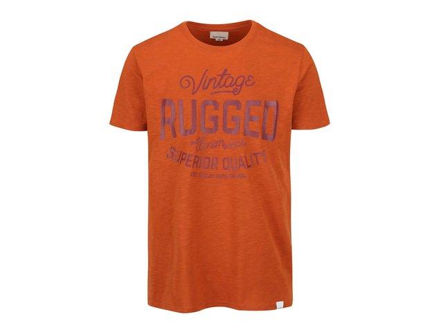 2a9d4aae67d3 Oranžové tričko s potlačou Shine Original