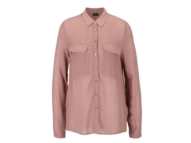 f23669fec5eb Hnedoružová košeľa s dlhým rukávom VILA Port