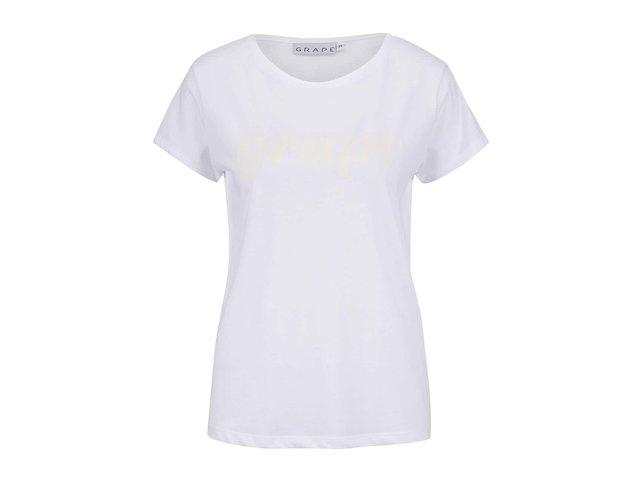 40110998a28d Biele dámske tričko s potlačou Grape