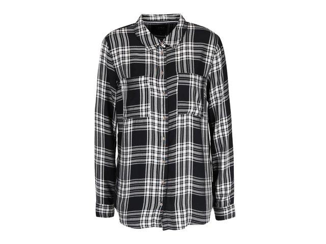 0a849e4a45ea Bielo-čierna károvaná košeľa ONLY June