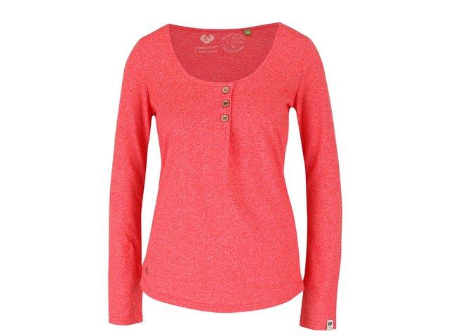 3cf7c44758b1 Červené dámske žíhané tričko s dlhým rukávom Ragwear Mayra Organic