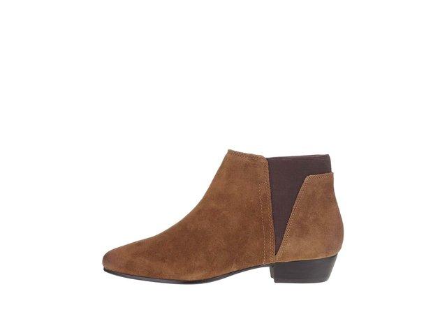 dce35cbd42 Hnedé dámske semišové členkové topánky ALDO Siman