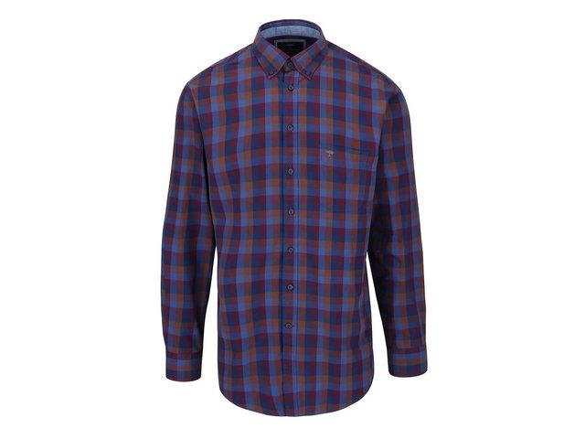 c32379f422fd Modro-vínová kockovaná košeľa Fynch-Hatton