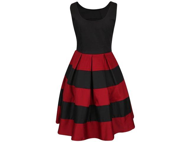 439902522b47 Červeno-čierne šaty s pruhovanou sukňou Dolly   Dotty Anna