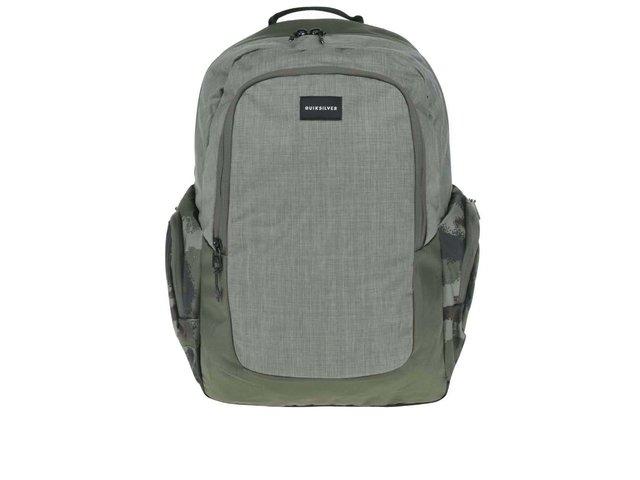 aa6b5adb7e Khaki pánsky batoh s bočnými vreckami Quiksilver Schoolie