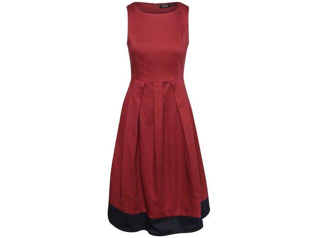 b71cb9cbac1b Vínové šaty s tmavomodrým lemom Dolly   Dotty Daphne