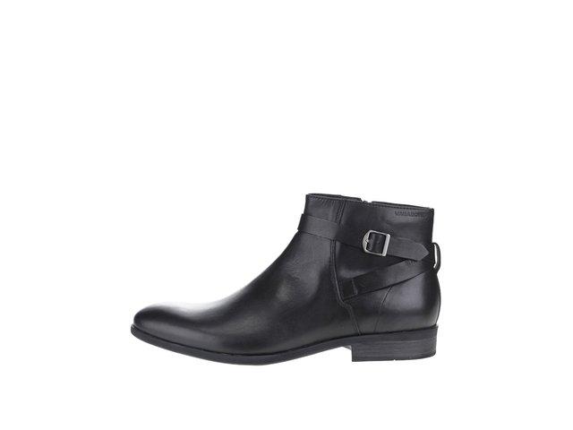 1b5d8c1953 Čierne pánske kožené členkové topánky s prackou Vagabond Hustle