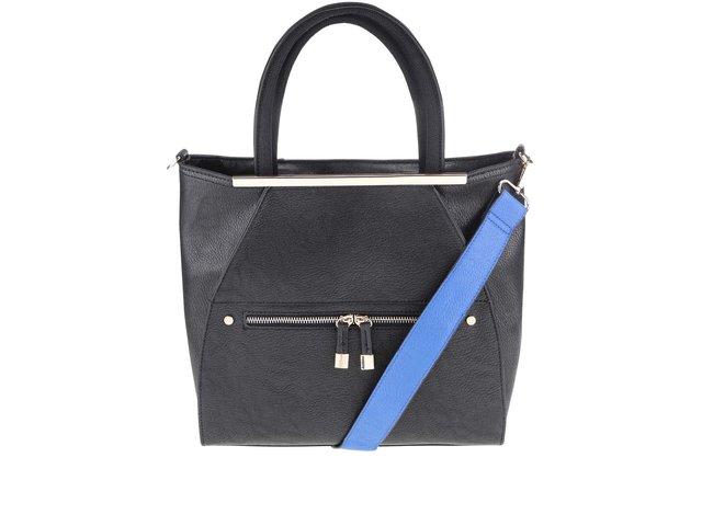 d080b06d38 Čierna kabelka so zlatými detailmi Miss Selfridge