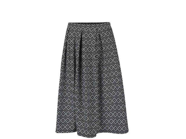 73b11ffa13d5 Krémovo-čierna vzorovaná sukňa Miss Selfridge