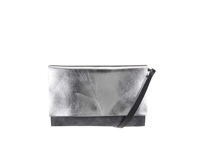 b753d0849db1 Strieborno-sivá metalická listová kabelka Clarks Moroccan
