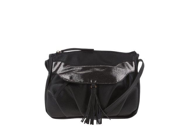 Čierna kabelka so strapcami Pieces Dalopsa   f2c5c0ff25e