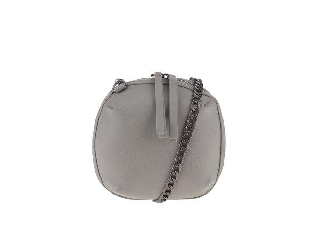 Sivá malá crossbody kabelka Pieces Barbara   935a6a7b055