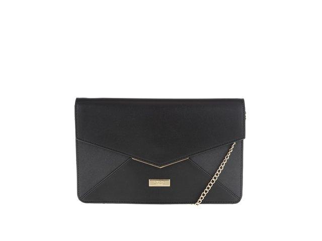 Čierna menšia listová kabelka s detailmi v zlatej farbe LYDC   23449d24a1a