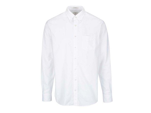 ff362436d92f Biela pánska neformálna košeľa GANT