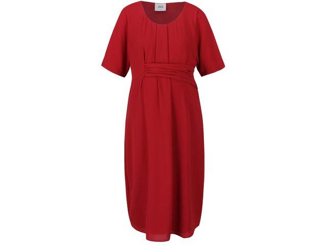 6ec1a78a62f2 Červené tehotenské šaty s krátkym rukávom Mama.licious Layla