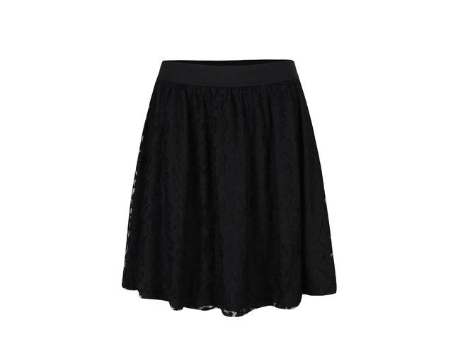 18cf84be28a4 Čierna čipkovaná sukňa ONLY Cara