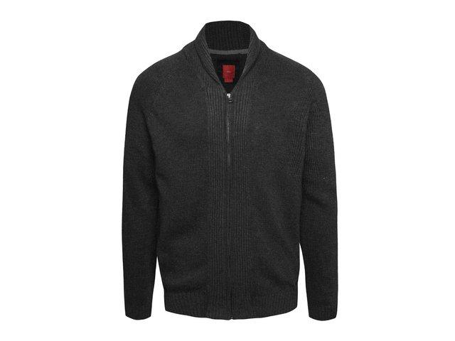 Tmavosivý pánsky sveter na zips s.Oliver 61193db8a58