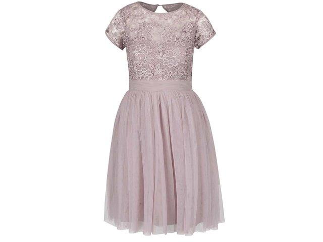 361a3fc6f Staroružové šaty s čipkovaným topom Little Mistress ?