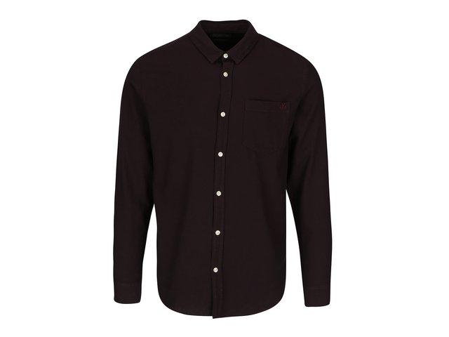 c8954c08a8fa Tmavovínová slim košeľa Jack   Jones Glit