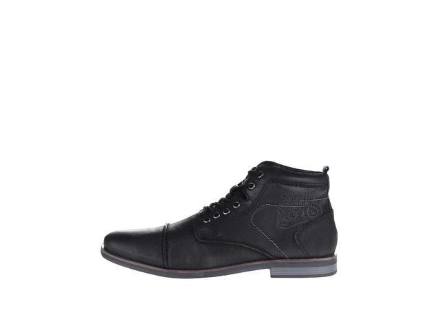 a9b1e640d Čierne pánske kožené šnurovacie členkové topánky bugatti Abramo ?