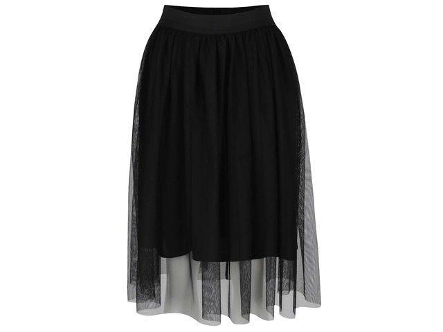 74f36cf64c3c Čierna tylová sukňa ONLY Shell