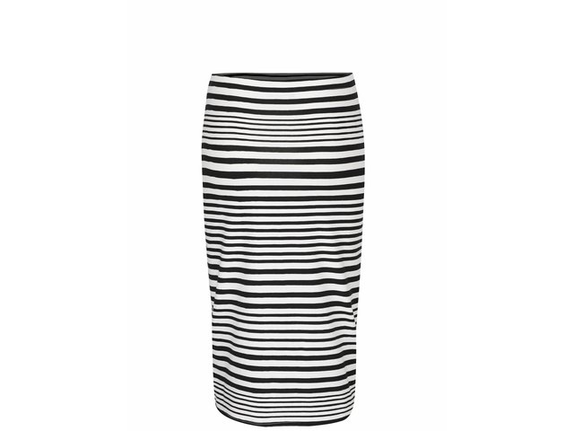 70bf4279a0aa Čierno-krémová pruhovaná sukňa Vero Moda Jolisa