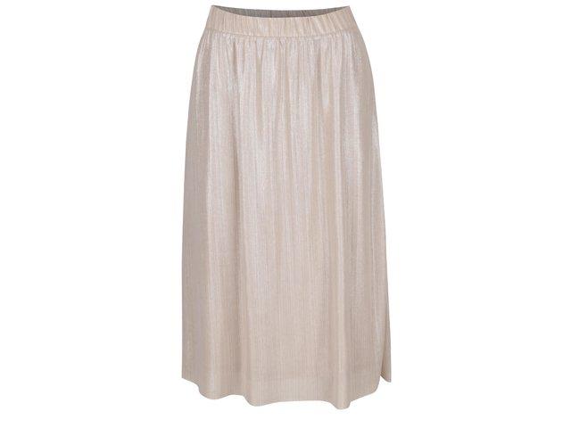 cdfca4600a04 Krémová trblietavá sukňa VILA Pol